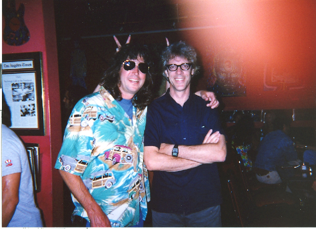David clowning with Stewart Copeland