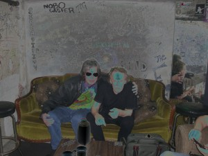 Cave Hollywood's David Kessel in the green room with Paul Kantner at a Jefferson Starship gig April, 2011