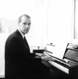 George Martin at the piano