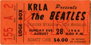 ticket stub-TheBeatlesDodgerStadium-Aug28_1966