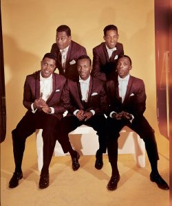 The Contours, from L to R: Jerry Green, Sylvester Potts, Council Gay, Huey Davis, Billy Gordon. Courtesy of the Paul Nixon Collection